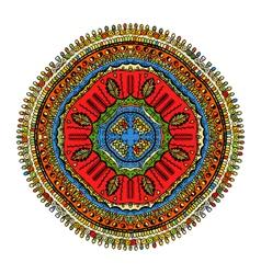 Ornament color mandala vector