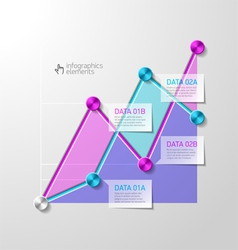 Abstract diagram infographics template vector image