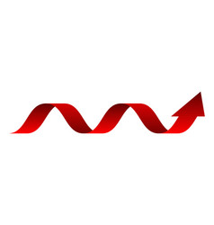 Arrow red down arrow statistic financia vector