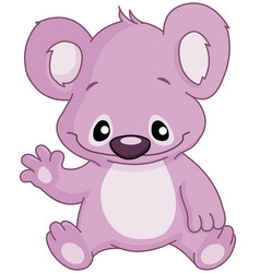 Baby koala waving vector