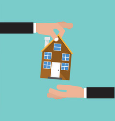 Buying home real estate investment concept vector