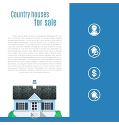 Cape cod country house in flat style vector