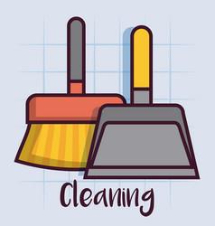 Cleaning equipment design vector