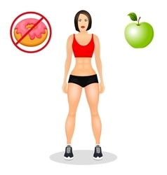 Concept with fit young woman in sportswear vector