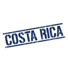 Costa rica blue square stamp vector