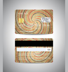 credit cards set with retro style design vector image vector image
