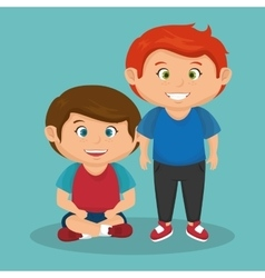 cute little kids character vector image vector image - Images Of Little Kids