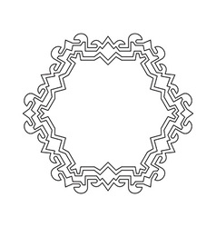 Decorative ornate frame border vector