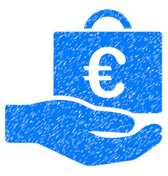 Euro accounting service grunge icon vector