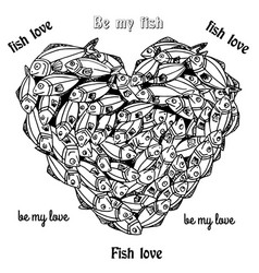 fishheart vector image vector image