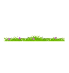 Flower and grass Borders set vector image vector image