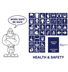 Health and Safety signs vector image