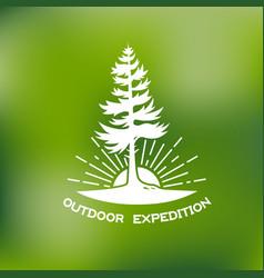 outdoor logo vector image