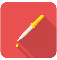 Pipette icon vector image