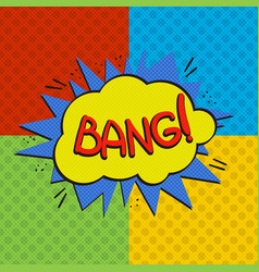 pop art bang logo vector image