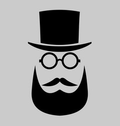 retro gentleman icon hipster art vector image vector image