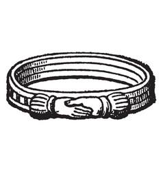 Ring materials vintage engraving vector