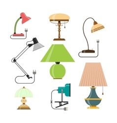 Set of home lamps house light design vector