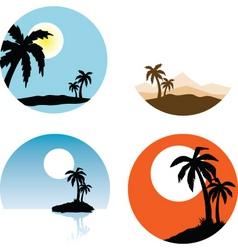 summer scenes vector image vector image