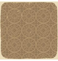 vintage beige pattern vector image vector image