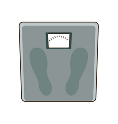 weight scale measuring loss image vector image