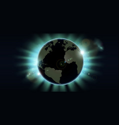 world globe eclipse background vector image vector image