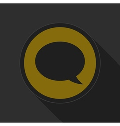 Dark gray and yellow icon - speech bubble vector