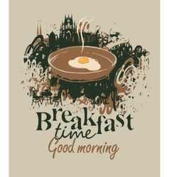 Restaurant with breakfast vector