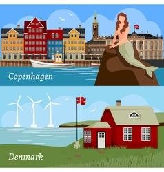 Denmark flat style compositions vector