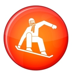 Snowboarder icon flat style vector