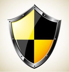 Steel glossy shield vector