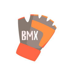 Gloves with fingers cut off for better grip part vector