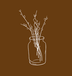 Pussy-willow in the bank 2 vector