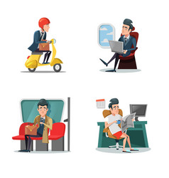 Businessman at work business lifestyle vector