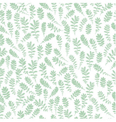 Wild leaves seamless floral endless pattern vector