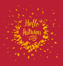Autumn red background vector
