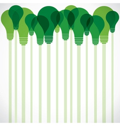 Green bulb stock background vector