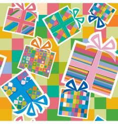 wallpaper with gift boxes vector image