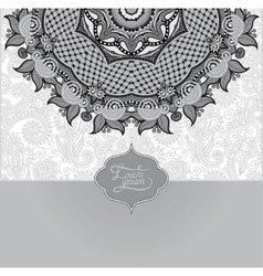 Grey islamic vintage floral pattern template vector