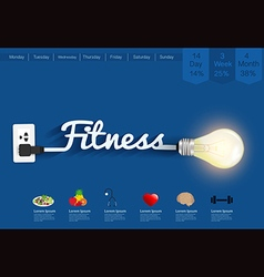 Fitness ideas concept creative light bulb design vector