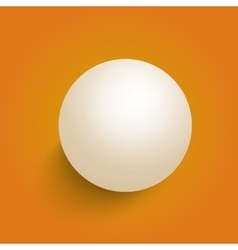 3d ball isolated on a orange background vector