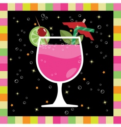 Cocktail greeting card vector