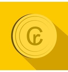 Cruzeiro icon flat style vector image