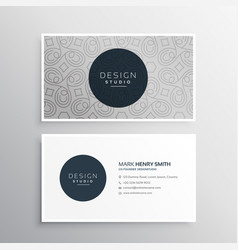 Beautiful abstract pattern business card design vector
