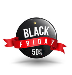 black friday sale banner with texture vector image
