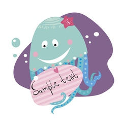 blue jellyfish vector image vector image
