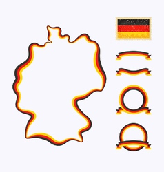 Colors of germany vector