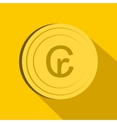 Cruzeiro icon flat style vector