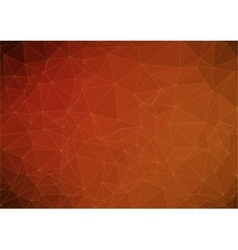 dark orange abstract polygonal background vector image vector image