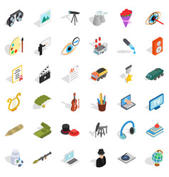 employment icons set isometric style vector image
